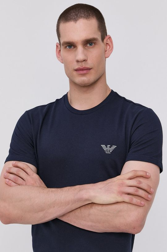 námořnická modř Emporio Armani - Pyžamové tričko Pánský