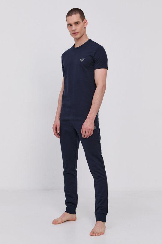 Emporio Armani - Pyžamové tričko námořnická modř