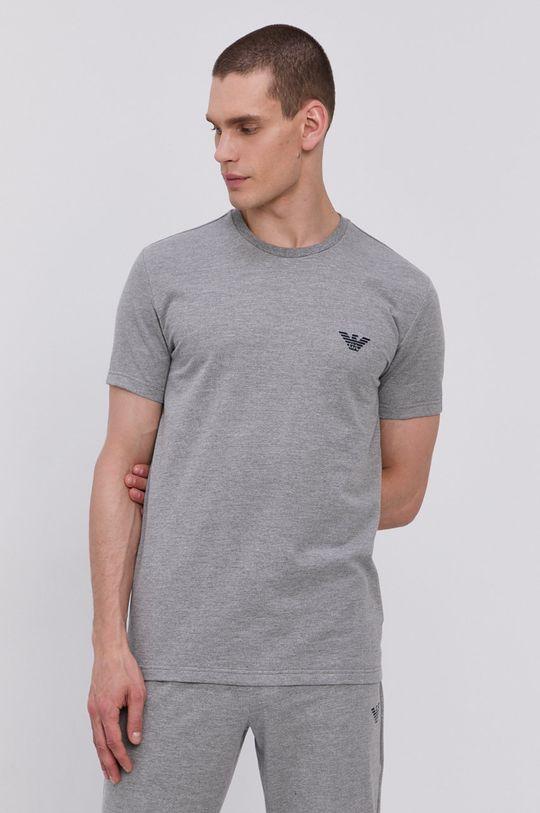 šedá Emporio Armani - Pyžamové tričko Pánský