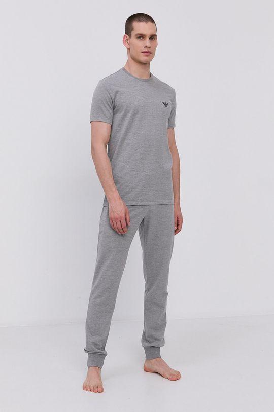 Emporio Armani - Pyžamové tričko šedá