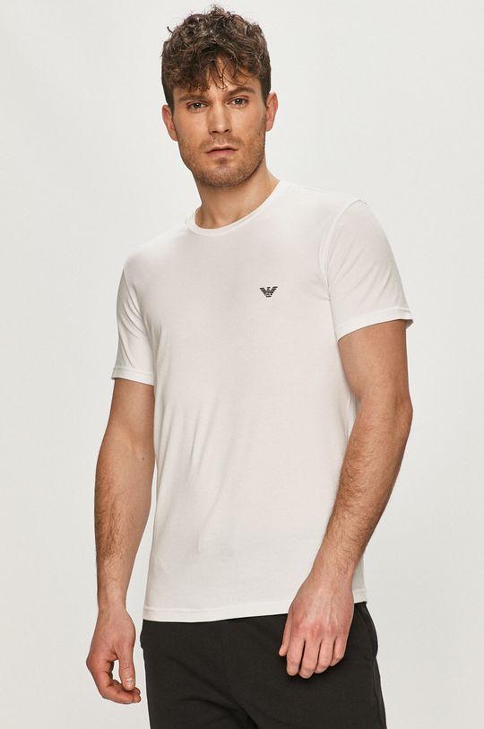 biela Emporio Armani - Tričko (2-pak) Pánsky