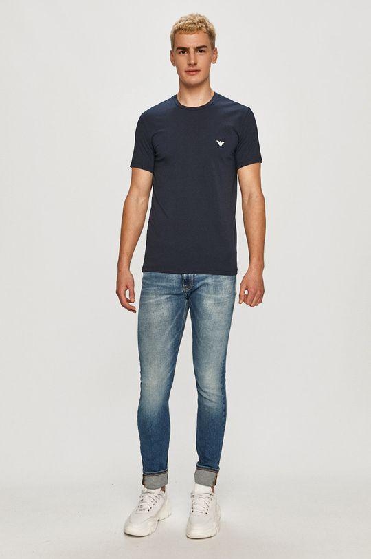 Emporio Armani - Tričko (2-pak) tmavomodrá