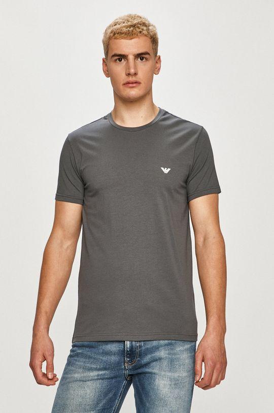 sivá Emporio Armani - Tričko (2-pak) Pánsky