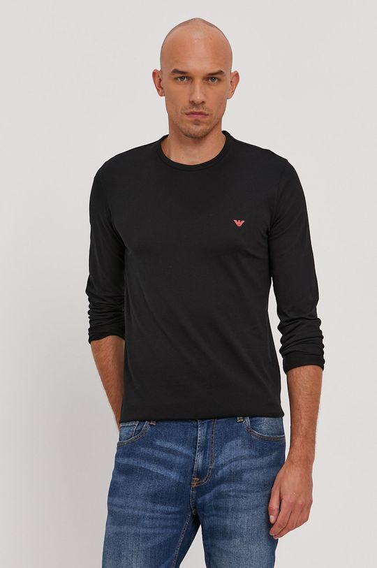 černá Emporio Armani - Tričko s dlouhým rukávem Pánský