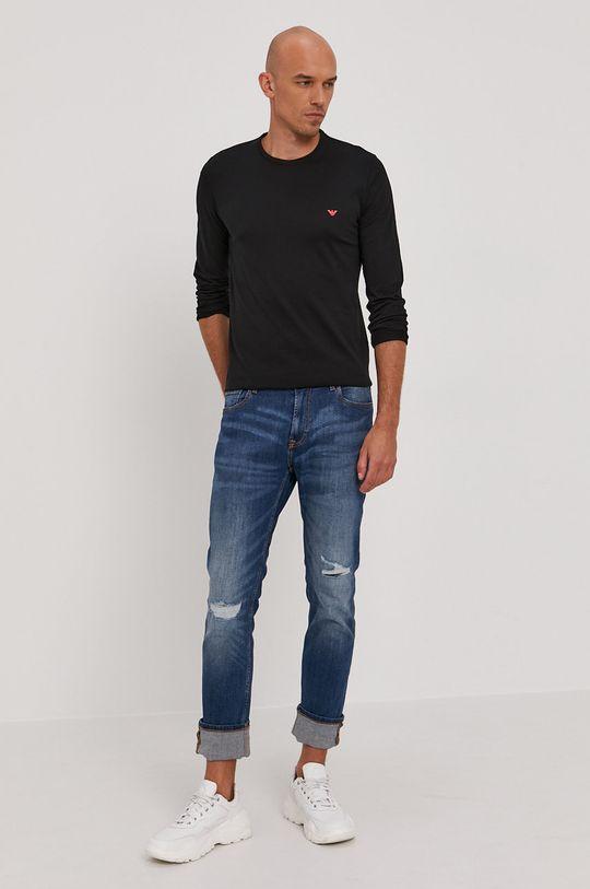 Emporio Armani - Tričko s dlouhým rukávem černá