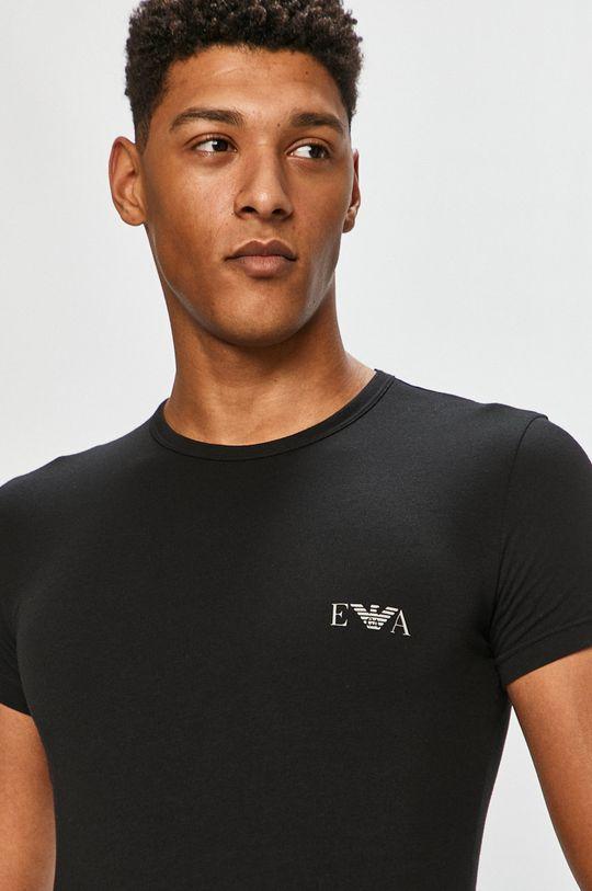 čierna Emporio Armani - Tričko (2-pak) Pánsky