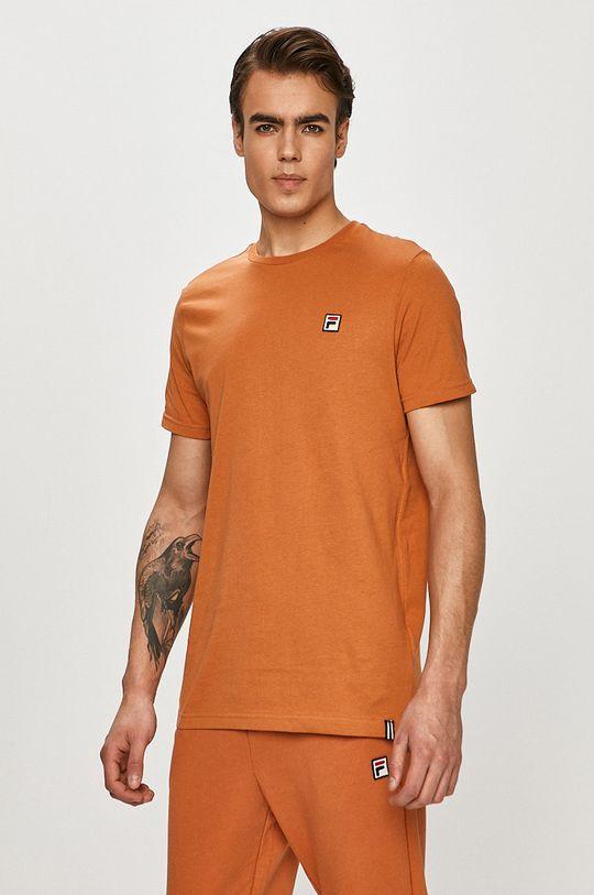 miedziany Fila - T-shirt Męski
