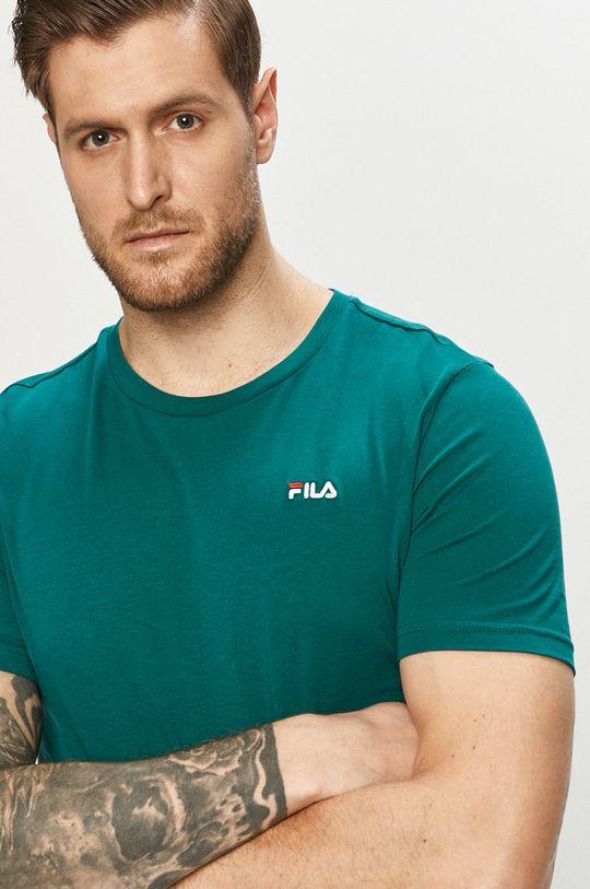 zielony Fila - T-shirt Męski