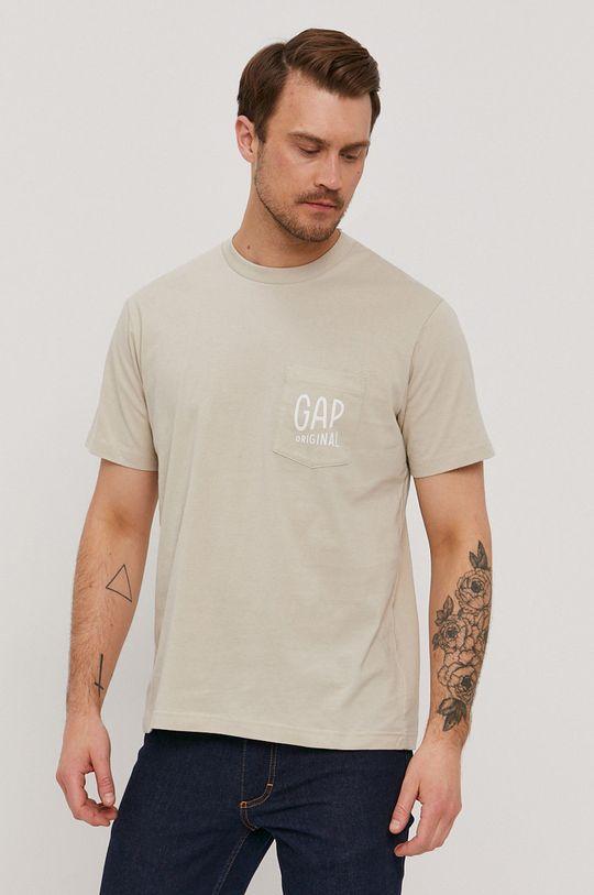 beżowy GAP - T-shirt Męski