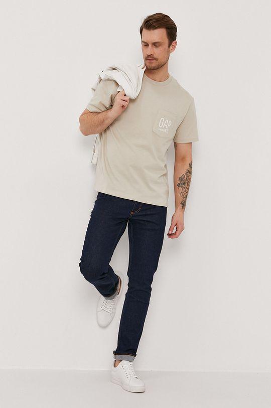 GAP - T-shirt beżowy
