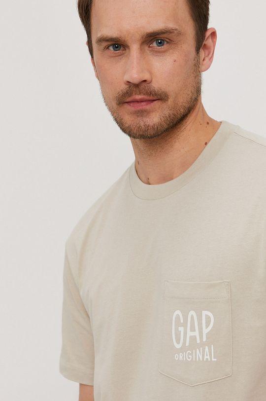 beżowy GAP - T-shirt