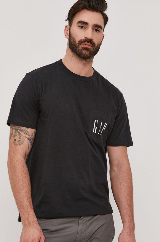 czarny GAP - T-shirt Męski