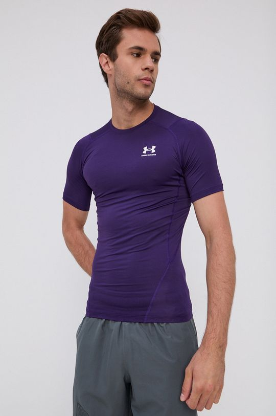 purpurowy Under Armour - T-shirt Męski
