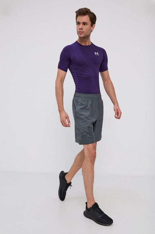 Under Armour - T-shirt purpurowy