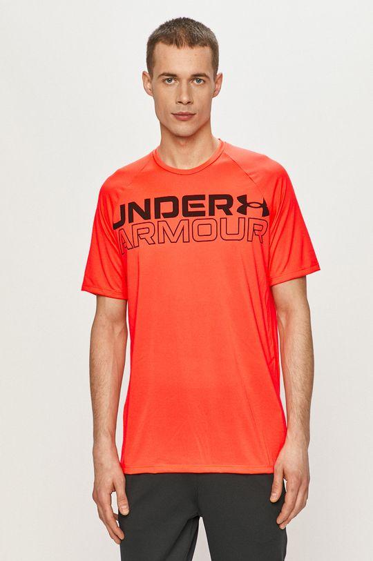 oranžová Under Armour - Tričko Pánský