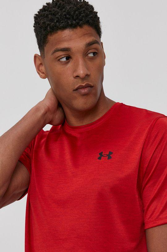 czerwony Under Armour - T-shirt Męski