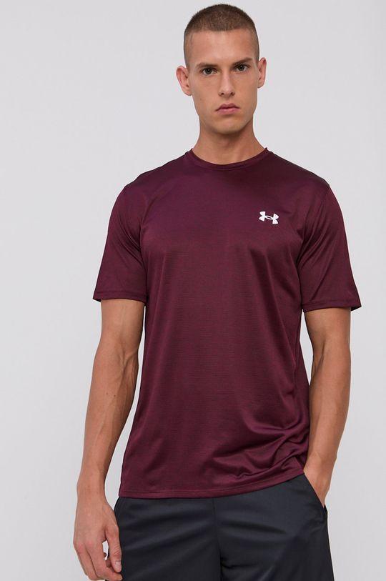 mahoniowy Under Armour - T-shirt Męski
