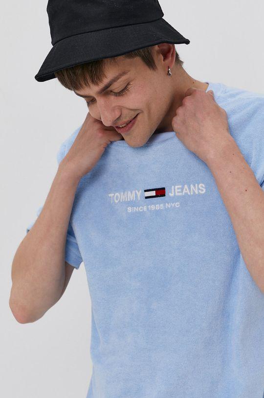 niebieski Tommy Jeans - T-shirt Męski