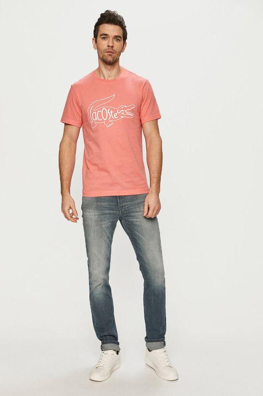 Lacoste - Tričko staroružová