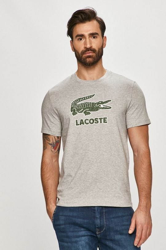 jasny szary Lacoste - T-shirt Męski