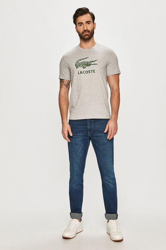 Lacoste - T-shirt jasny szary