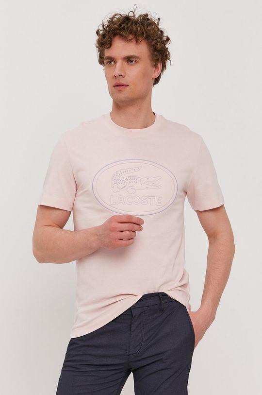 ružová Lacoste - Tričko Pánsky