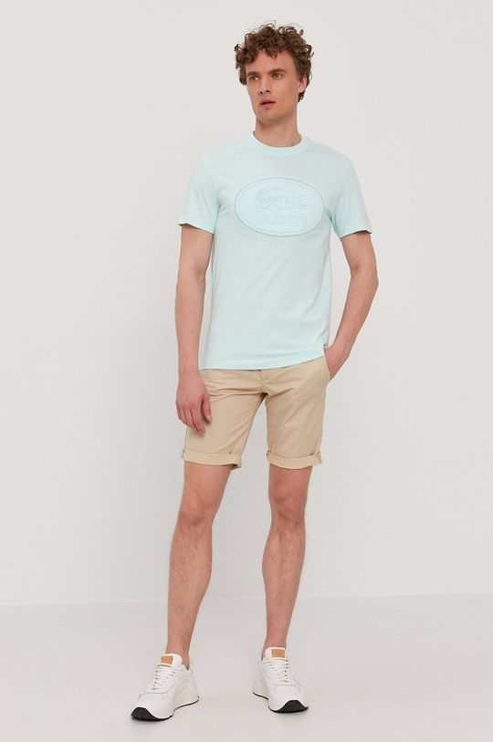Lacoste - Tričko svetlá tyrkysová
