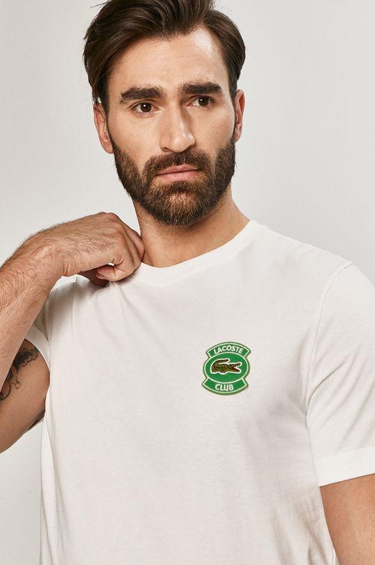 bílá Lacoste - Tričko Pánský