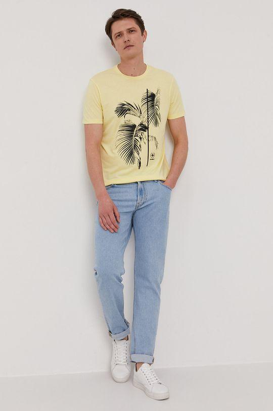 żółty Strellson - T-shirt Męski