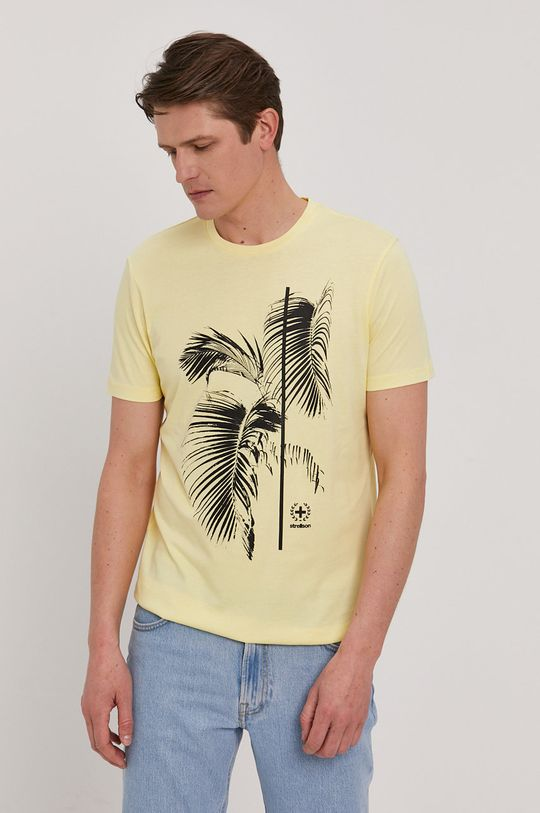 Strellson - T-shirt żółty