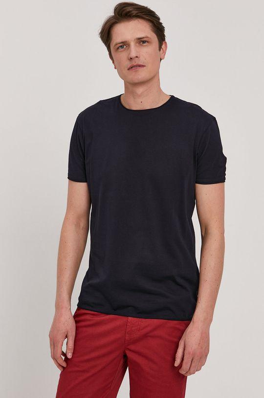 granatowy Strellson - T-shirt Męski