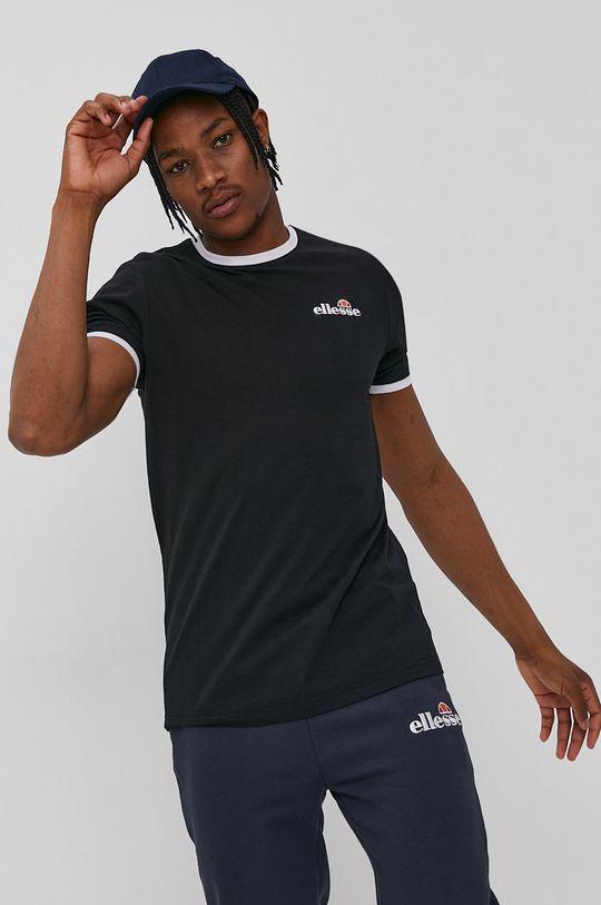 czarny Ellesse - T-shirt Męski