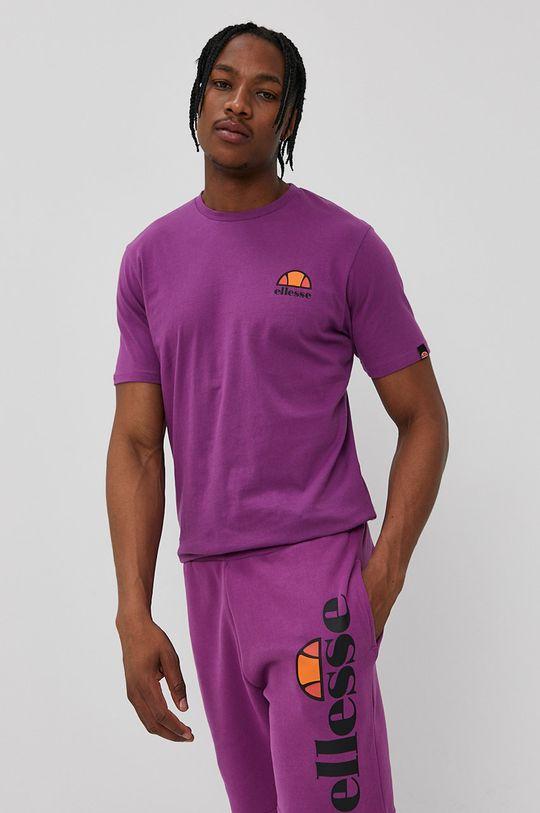 fioletowy Ellesse - T-shirt Męski