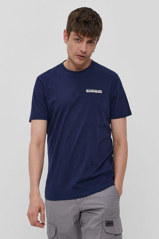 granatowy Napapijri - T-shirt Męski