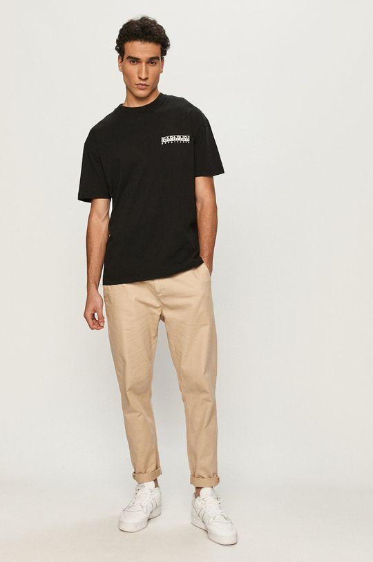 Napapijri - T-shirt czarny