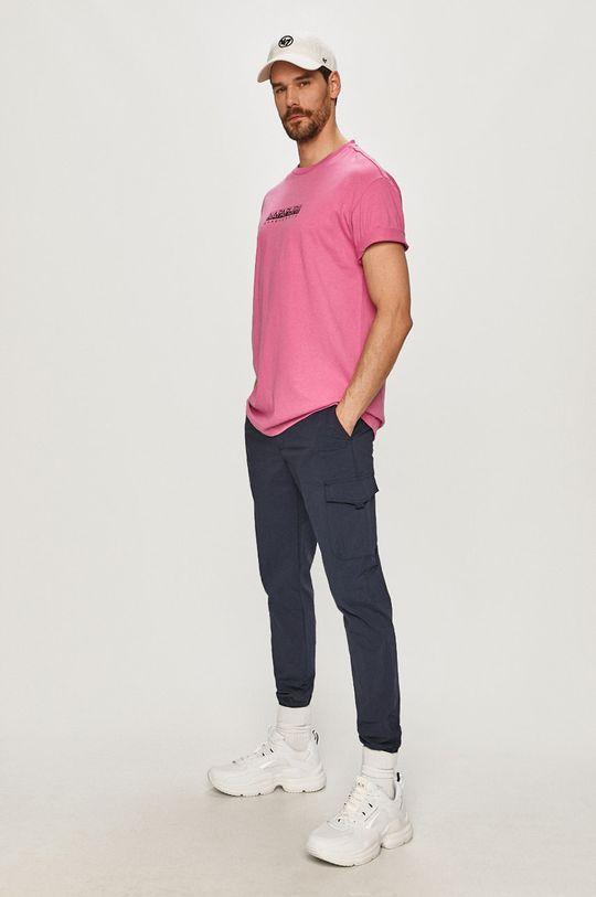 Napapijri - Tričko ostrá růžová