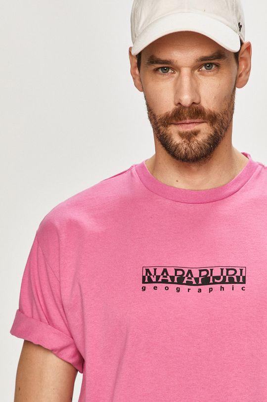 ostrá růžová Napapijri - Tričko
