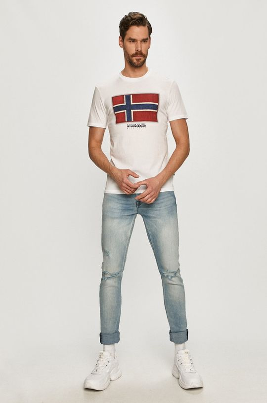 Napapijri - Tričko bílá