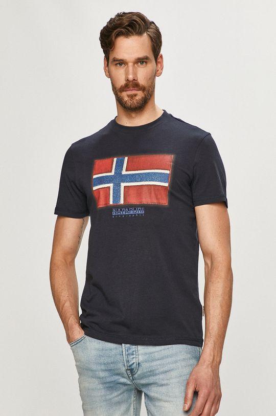 granatowy Napapijri - T-shirt/polo NP0A4F9R Męski