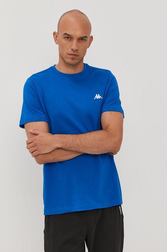 niebieski Kappa - T-shirt Męski