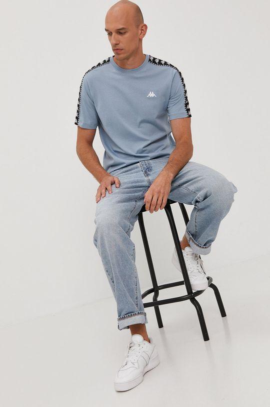 jasny niebieski Kappa - T-shirt Męski
