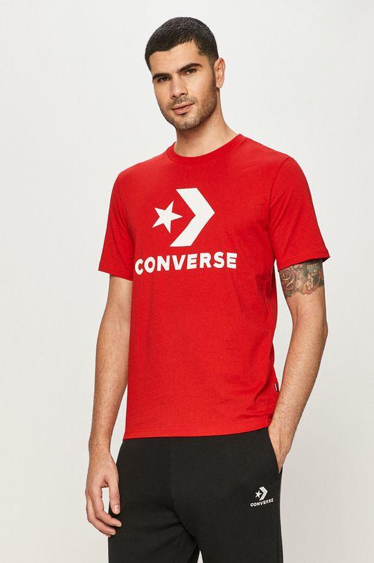 czerwony Converse - T-shirt Męski