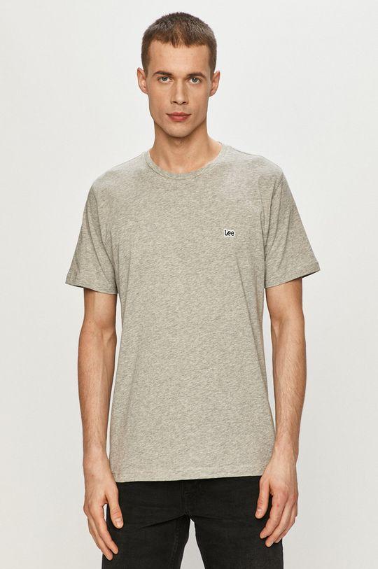 jasny szary Lee - T-shirt Męski