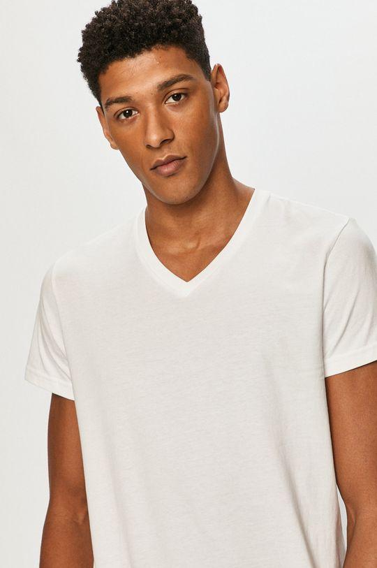 biały Lee - T-shirt (2-pack) Męski