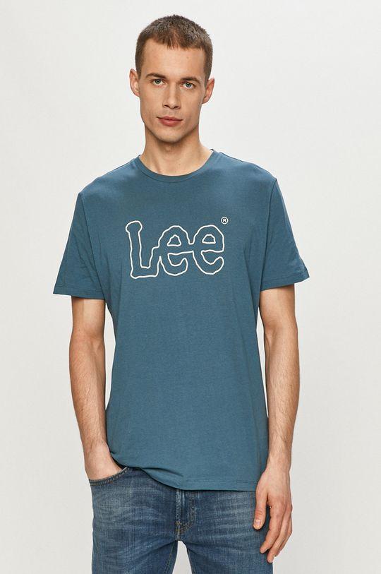niebieski Lee - T-shirt Męski