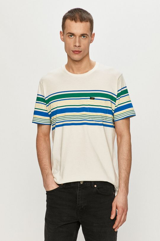 kremowy Lee - T-shirt Męski