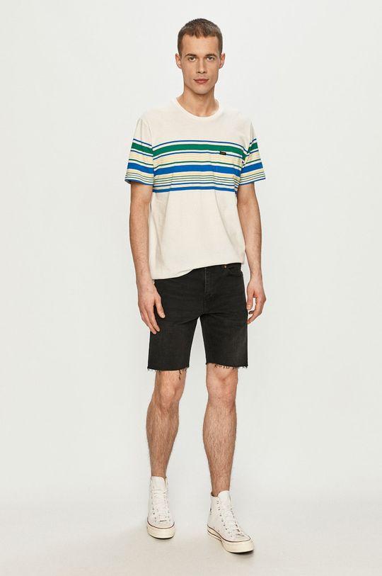 Lee - T-shirt kremowy