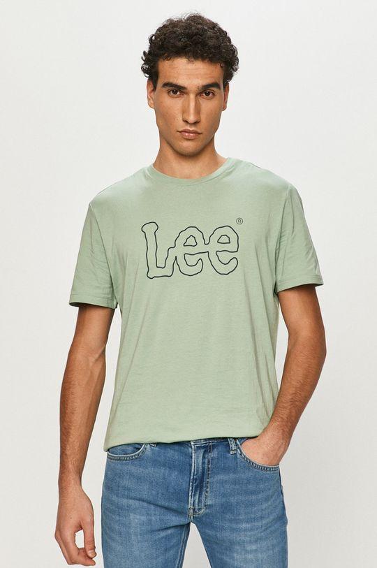 svetlozelená Lee - Tričko Pánsky