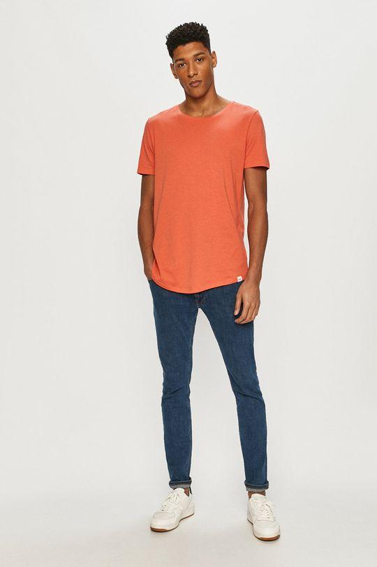 Lee - T-shirt czerwony