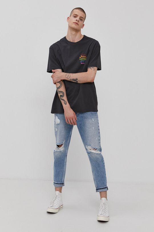 Lee - T-shirt PRIDE grafitowy